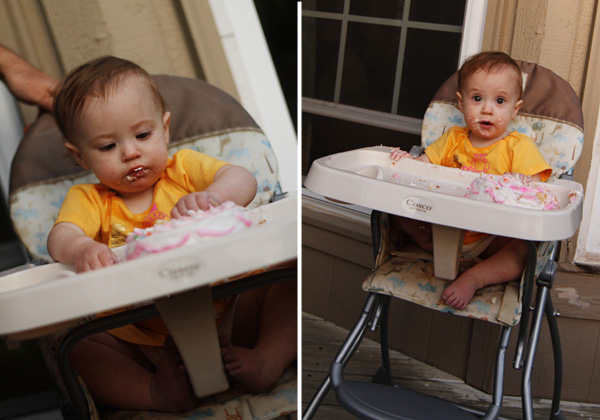 Cake in highchair