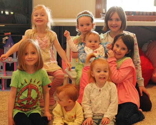 8 girls