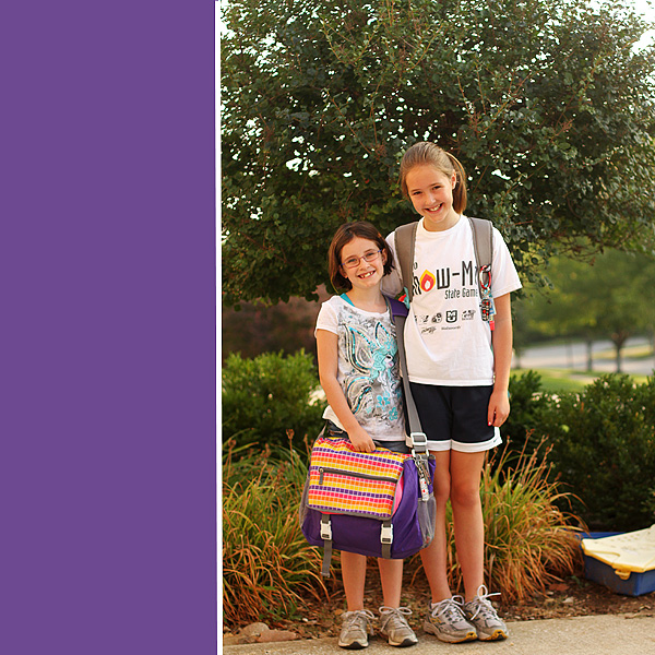#1 and #2 first day of school