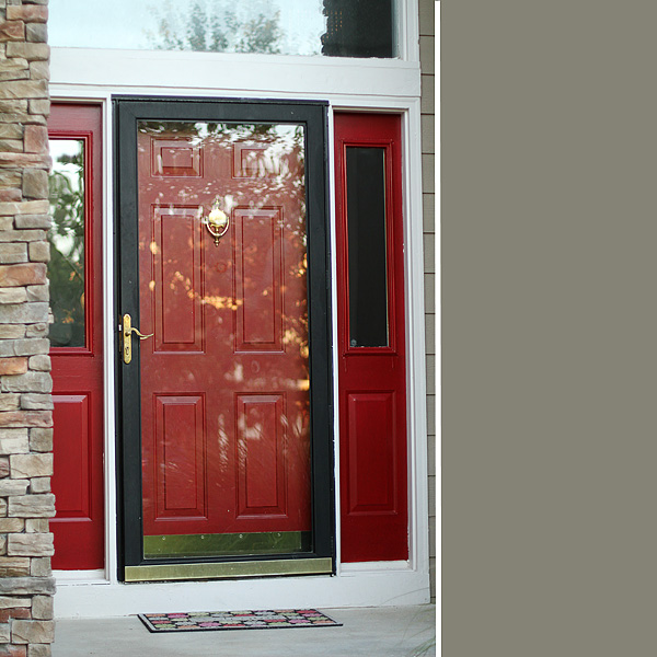 Thrifty thursday a red front door suzanne mcgrath for Storm door on front door
