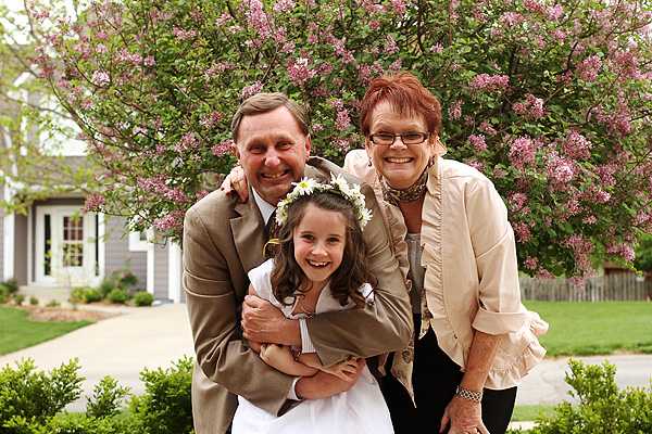 First communion with grandparents