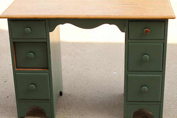 Desk before paint