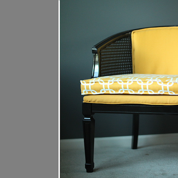 Thrifty Thursday...a Tutorial: How To Reupholster A Cane Chair   Suzanne  McGrath Photography