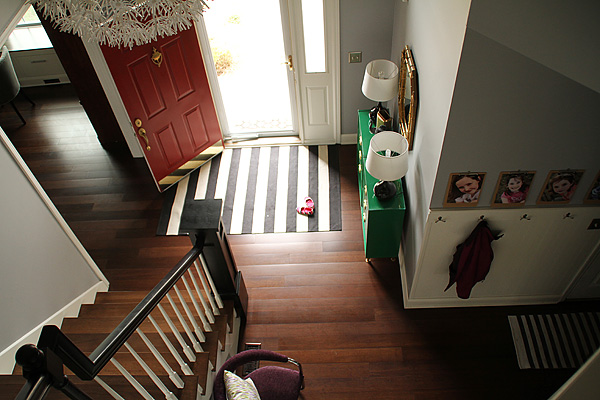 My Foyer Staircase Reveal : Thrifty thursday not really my foyer and pretty stairs
