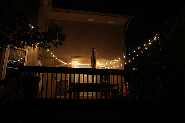 Thrifty Thursday...How to Hang String Lights Over the Deck - Suzanne McGrath Photography