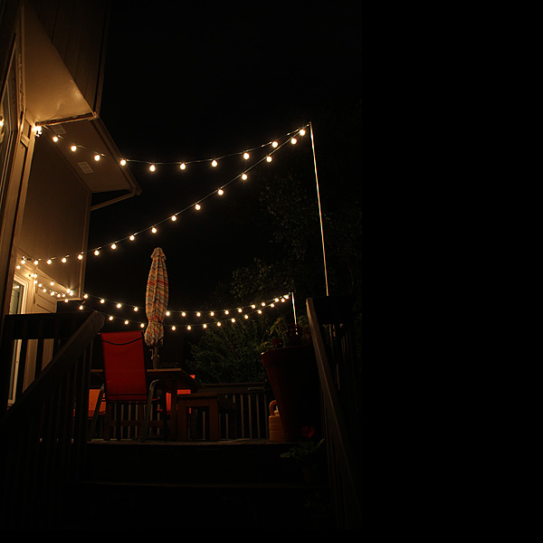 Hang String Lights Over Patio : Thrifty Thursday...How to Hang String Lights Over the Deck - Suzanne McGrath Photography
