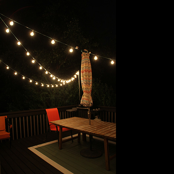 Outdoor String Lights on my Deck 4