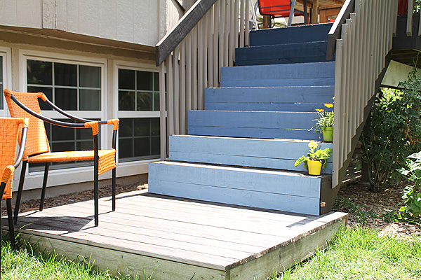 Ombre Deck Stairs 3