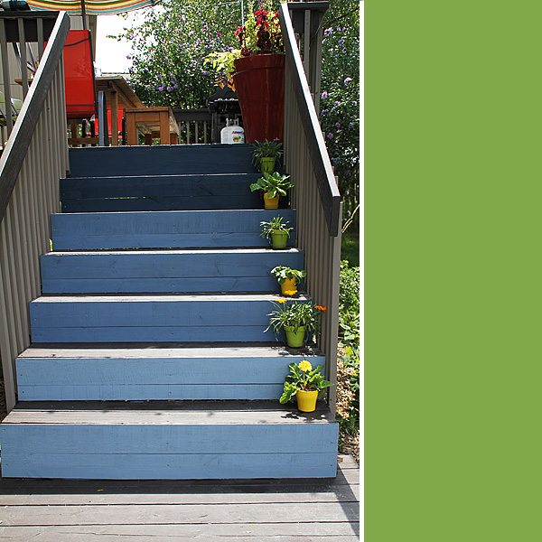 Ombre Deck Stairs 5
