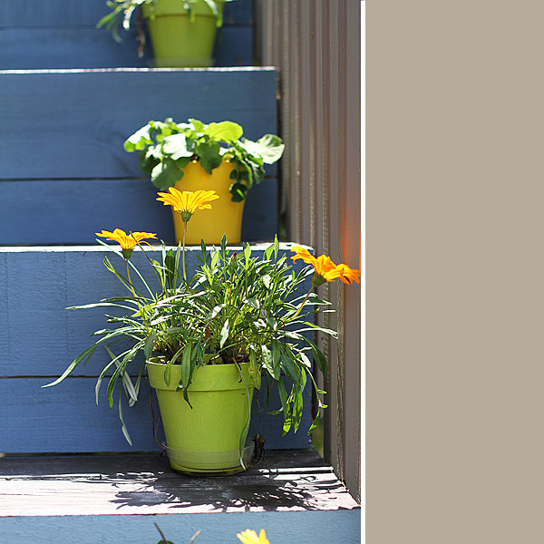 Ombre Deck Stairs 2