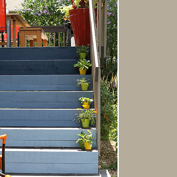 Ombre Deck Stairs 1