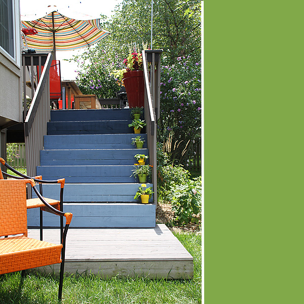 Ombre Deck Stairs 4