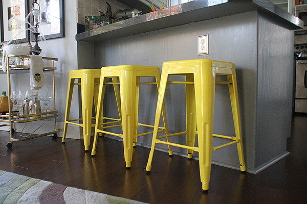 Yellow Bar Stools 2