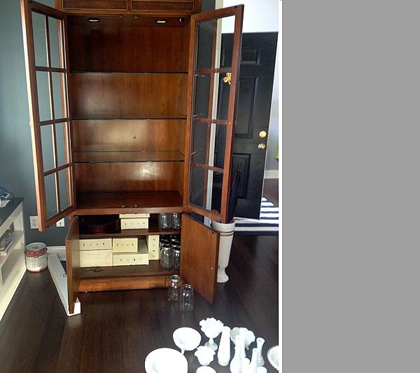 Before Cherry China Cabinet