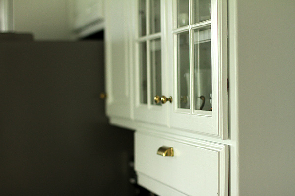 Profile View of Cabinets with Hidden Hinges