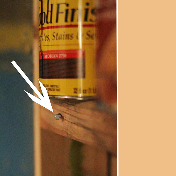 How to toenail shelves in the store room
