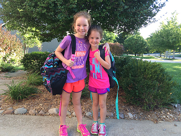 Little Girls first day of school