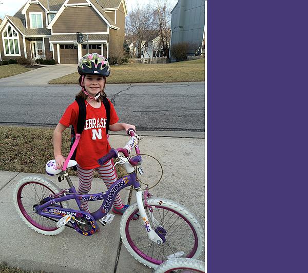 #3 riding her bike