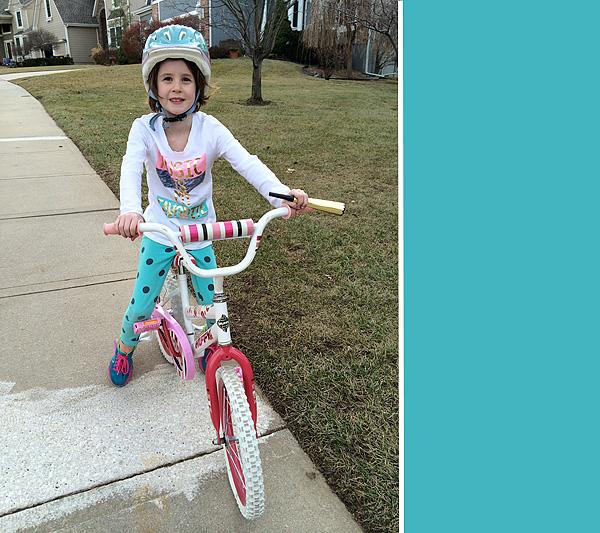 #4 riding her bike