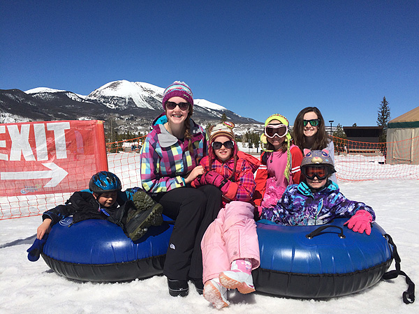 Kids Tubing in Frisco COjpg