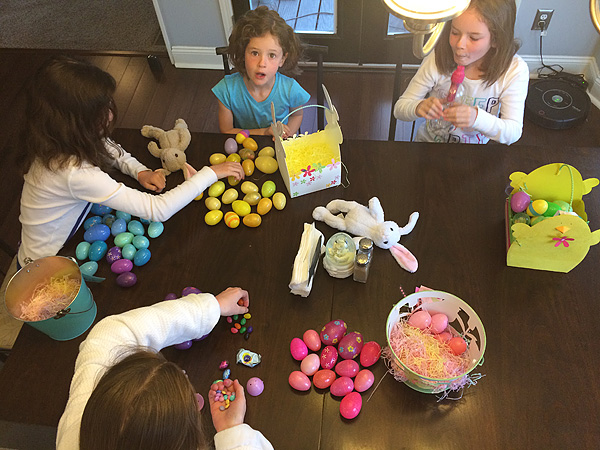 Sorting Easter Candy