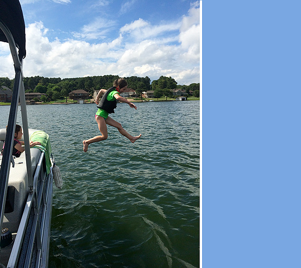 #3 jumping off the boat