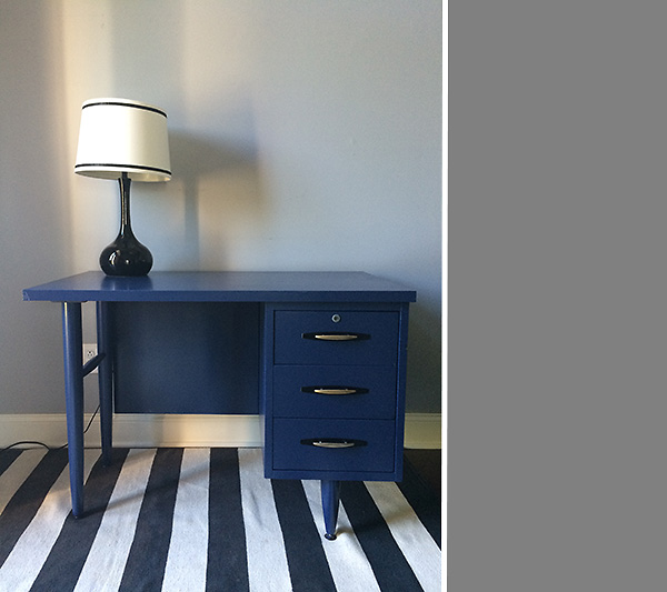 Mid century navy blue desk