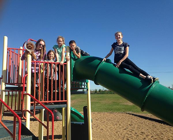 Cousins at the park