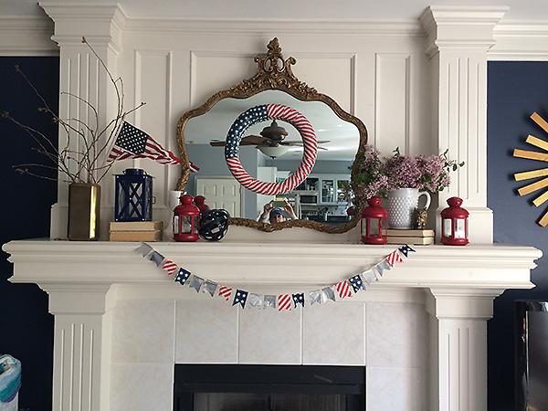 Patriotic Mantle Decor