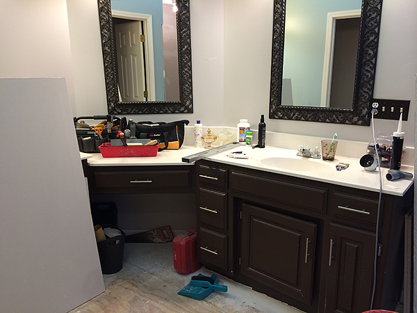 Bathroom Reno Mess