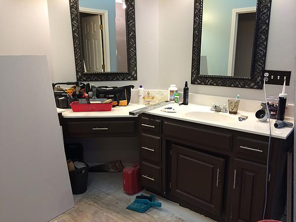 Bathroom Reno Mess