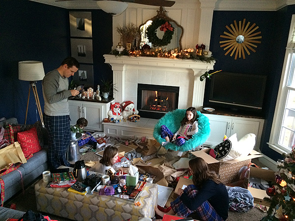 Christmas morning