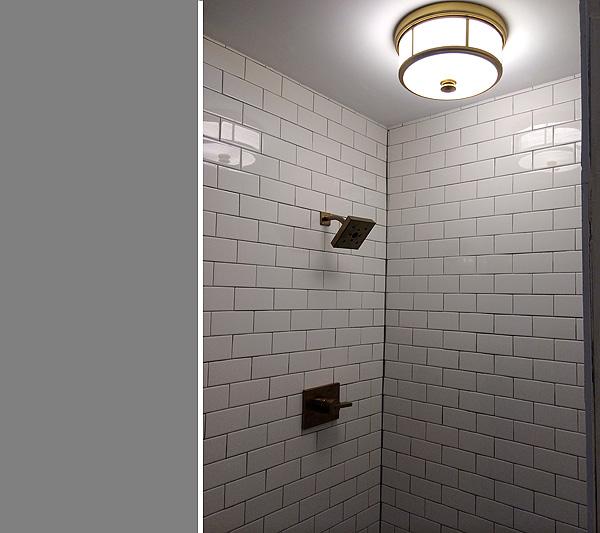 New shower light