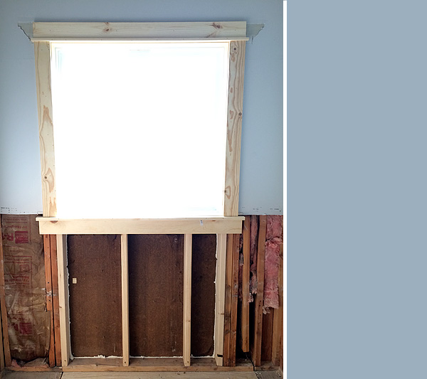New Window in Bathroom