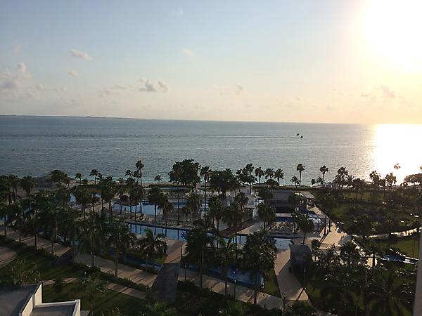 View from the balcony