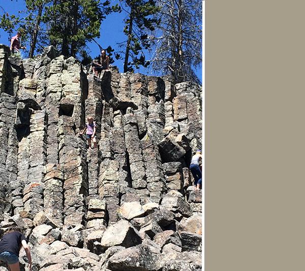 Rock climbing picnic area