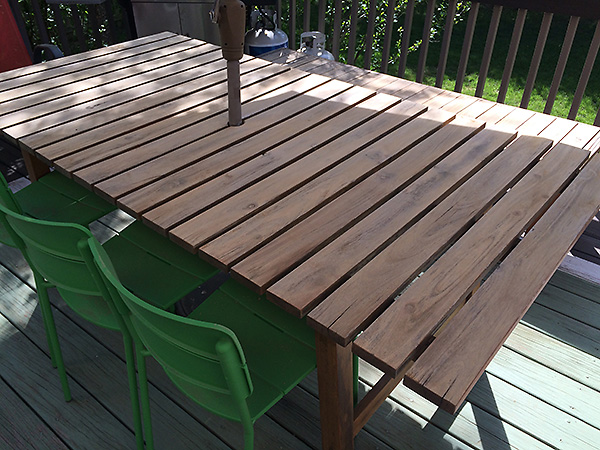Sanded Picnic Table