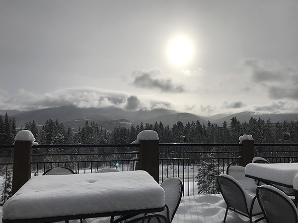 Pow Day view from Sevens
