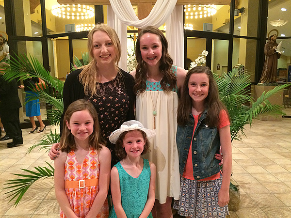 The girls with Maddie