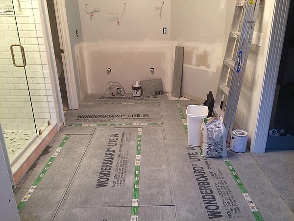 Bathroom cement backer board