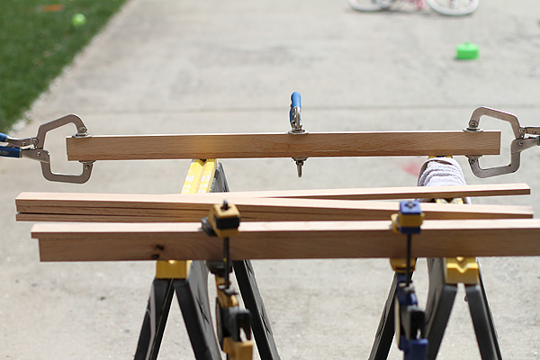 Clamping the wood