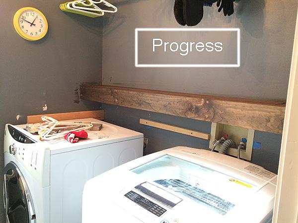 Laundry room progress