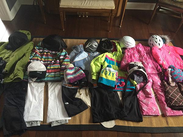Ski Trip Packing