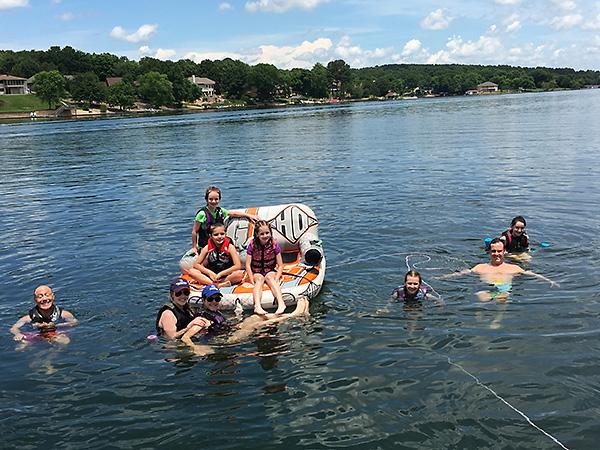 Lake fun with cousins 2