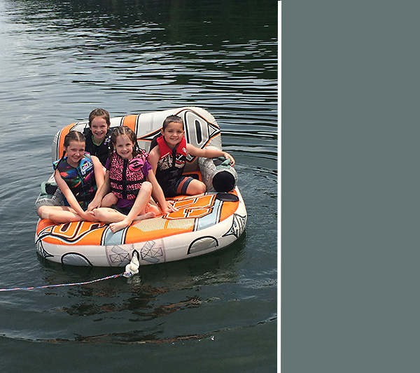 Lake fun with cousins