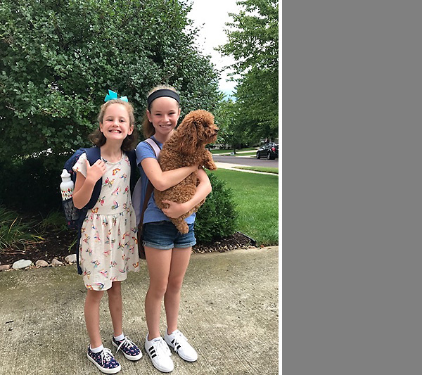 First Day of School for the Littles
