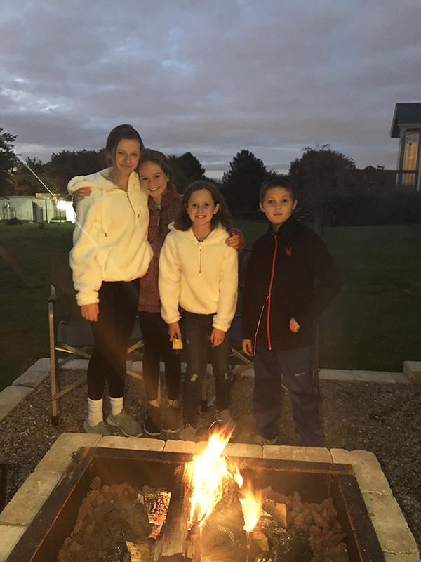 Cousins at the Bonfire