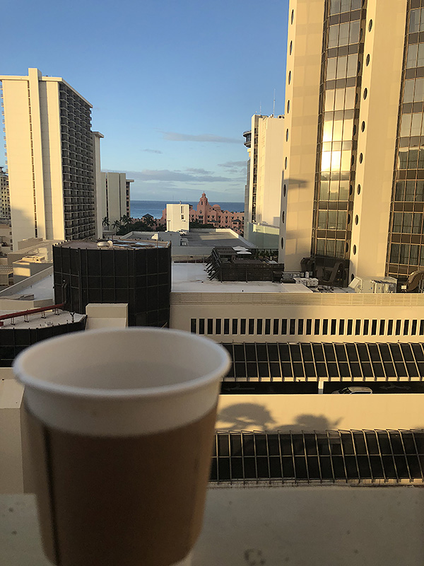 Coffee from the balcony