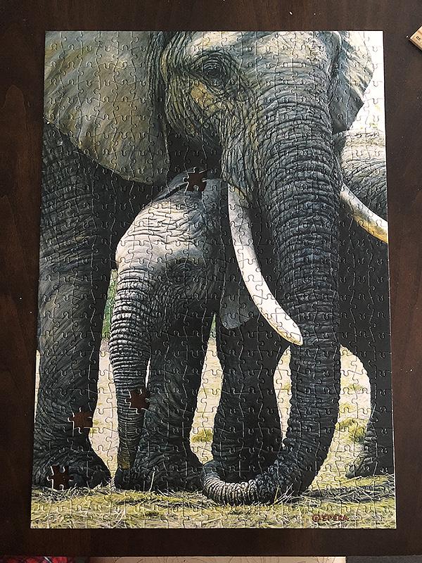 Finished Elephant puzzle